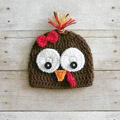 Crochet Turkey Hat Beanie Thanksgiving Infant Baby Newborn Toddler Child Adult…