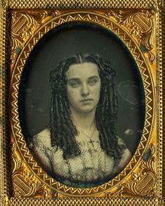 Lovely Christian Theme Daguerreotype Portrait, Long Flowing Curls and Crucifix ! in Collectibles, Photographic Images, Vintage & Antique (Pre-1940), Daguerreotypes | eBay