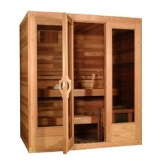Stylish Sauna bathroom Relaxation Room, Cedar Bench, Home, Sauna Room, Modular, House Plans, Tall Cabinet Storage, Cedar Door, Types Of Doors