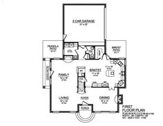 Traditional House Plan with 4 Bedrooms and 3.5 Baths - Plan 9062