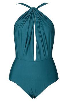 8e252466b20f #AdoreWe #CupShe Designer bikini - Designer CupShe Deep End Plunging  One-piece Swimsuit