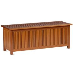 Hardwood Outdoor Storage Bench   Walmart.com