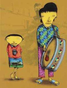 by Os Gemeos. They are the identical twins - Otávio and Gustavo Pandolfo - born in São Paulo, Brazil, in 1974.