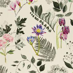 mokuren - graphite fabric | Designers Guild