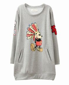 Who doesn't love Mickey Mouse? :) Chief Mickey Round Neckline Sweatshirt - Clothing