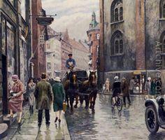"""""""Ved Rundetårn"""" Paul Gustave Fischer (1860-1934)"""