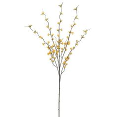 Yellow Flowering Blossom Stem By Allstate Michael Store, Buy Fabric, Halloween Christmas, Coastal Decor, Custom Framing, Plastic, Yellow, Spring, Color