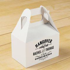 Hangover relief kit welcome bag as seen on @offbeatbride #wedding #welcomebag…