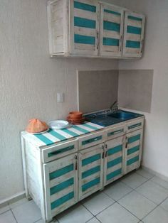 Kitchen Cabinets From Pallets kitchen wholly made from recycled pallets | pallets, kitchens and