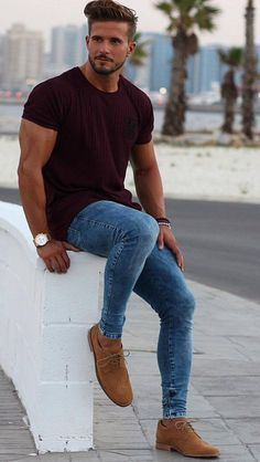 57 Spring Chic Outfits for Men's Street Style Trendy Mens Fashion, Big Men Fashion, Stylish Mens Outfits, Mens Fashion Suits, Mens Casual Winter Fashion, Mens Dress Outfits, Chic Outfits, Men's Fashion, Fashion Trends