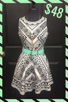 Tribal Princess Dress! Adorbs! We can never resist black and white with a pop of color! $48 S-M-L