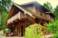 Redmond Vacation Rental - VRBO 408972 - 3 BR Puget Sound North House in WA, Enjoy Log Cabin and the North West!