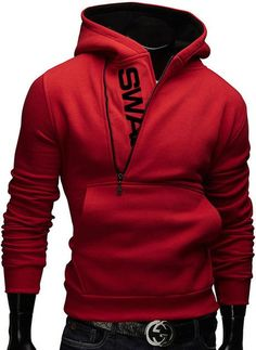Finance Plan Fashion Men Casual Slim Fit Color Blocking Hoodie Sweatshirt Pullover Outwear