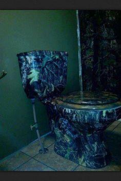 My bathroom will have a camo toilet. Camo Bathroom, Bathroom Sets, Bathroom Stuff, Bathrooms, South Country, Country Life, Country Girl Style, Country Girls, Camo Curtains