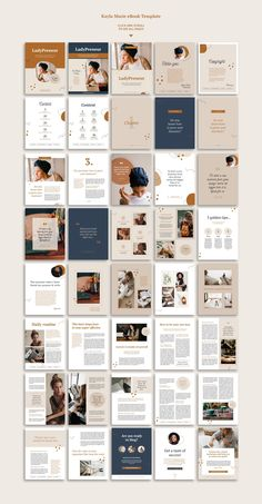 Kayla Marie is a professional CANVA or INDESIGN multipurpose eBook template with unique pages available in US letter and sizes. Create beautiful eBook to Portfolio Design Layouts, Page Layout Design, Graphisches Design, Magazine Layout Design, Magazine Layouts, Design Editorial, Editorial Layout, Mise En Page Word, Organizar Feed Instagram
