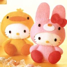felt bunny & duck Hello Kitty