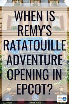Ever since it was announced that a Ratatouille Ride is coming to Epcot, Disney fans have been eagerly waiting for it to open. The new Remy's Ratatouille Adventure will shrink guests down to the size of a rat and bring them on one wild ride! Read here to learn all the details. #disney #disneyworld #disneytravel #disneyplanning #disneyvacation #epcot Disney World News, Disney World Secrets, Disney World Rides, Disney World Tips And Tricks, Disney World Vacation, Disney Vacations, Best Disney Park, Disney Day, Walt Disney