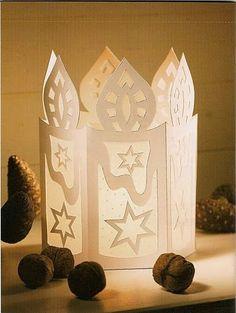 DIY Handmade: Lampion adwentowy na roraty - szablony