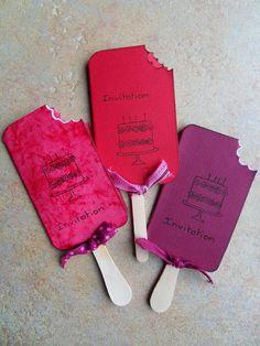Invitations ...DIY glaces en papier ... j'aime cette idée !
