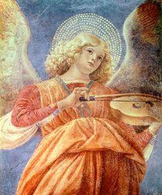 Titulo de la imágen Melozzo da Forli - Musical Angel with Violin
