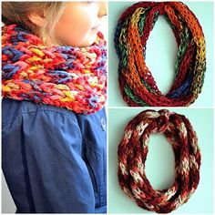 DIY Easy Scarf with Your Own Fingers 2