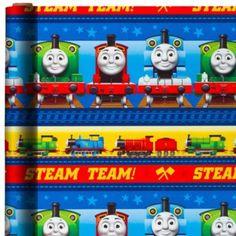 Thomas the Tank Engine Gift Wrap