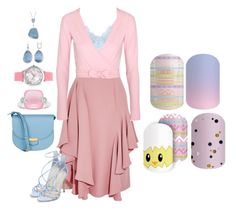 """""""Easter Set - Jamberry Nails"""" by kspantongroup on Polyvore featuring Alexander McQueen, Ballet Beautiful, Steve Madden, CÉLINE and Kim Rogers"""