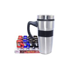 24 Units of Coffee Mug Insulated with handle & Grip - Coffee Mugs Wholesale Coffee Mugs, Disposable Coffee Cups, Stainless Steel Thermos, Cute Coffee Mugs, Handle, The Unit, Tableware, Dinnerware, Dishes
