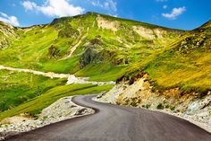 Buy Transalpina winding road in Romania by xilius on PhotoDune. Transalpina, the highest altitude road in Romania, crossing the Parang mountains Road Trip Destinations, Winding Road, Eastern Europe, Places To See, Paths, Travel Inspiration, Tourism, Scenery, Around The Worlds