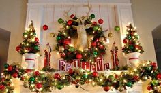 decorating mantel ideas for christmas | 31 Best Christmas Mantel Decorating Ideas for 2013 holiday, christma decor, joke, deer heads, christma mantel, mantl, decor idea, mantel decorations, christmas mantels