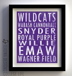 Kansas State University Subway Scroll Art Print
