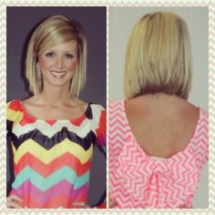Long Bob, Stacked. Possibly my next hair cut! Super cute, I would love long hair but my hair grows way to slow.