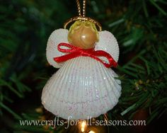 crafts for the elderly to make | seashell angel ornament