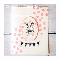 Basket Bunch chocolate bunny Easter card by Cheri Stojkovich Stampin Up demonstrator
