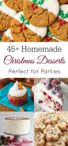 Looking for delicious and easy Christmas desserts to make? You will find the perfect Christmas dessert here with everything from cakes to cookies! Homemade Christmas Treats, Christmas Desserts Easy, Desserts To Make, Christmas Ideas, Christmas Goodies, Christmas Time, Real Food Recipes, Cookie Recipes, Dessert Recipes