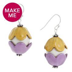 Painted Egg Earrings