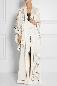 Carine GilsonAurelia Printed Silk Satin Robe $2005