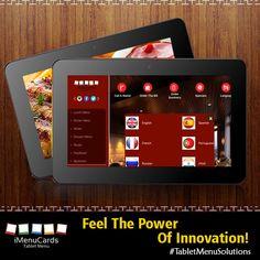 Innovative Tablet menus at your service! Know More Here: www.imenucards.in  #imenu #tabletmenu #digitalmenu