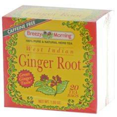 West Indian Ginger Root, Caffeine Free, 20 Tea Bags
