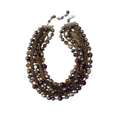 Vintage Hollywood Glamour Champagne Necklace
