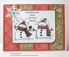 Pear & Partridge paper with Flakey Friends stamp set CTMH