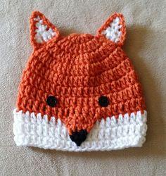 Fox Hat Animal Hat Crochet Hat Orange Fox Hat Infant, Child, Adult Sizes Winter Hat Fox Beanie - pinned by pin4etsy.com