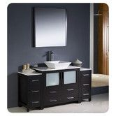 """Found it at Wayfair - Torino 60"""" Modern Bathroom Vanity Set with 2 Side Cabinets and Vessel Sink"""