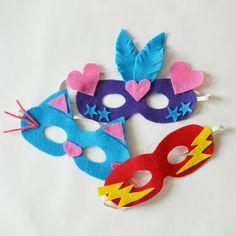 Kinder Fasching Maske aus Filz