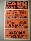 Vintage Caro Michigan Drive In Theatre 1960s Movie Poster Wild One Brando - 1960's, BRANDO, Caro, Drive, MICHIGAN, MOVIE, POSTER, Theatre, Vintage, Wild