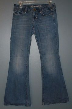 American Eagle real flare jeans womens size 4 short #AmericanEagleOutfitters #Flare