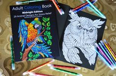Awsome coloring book with black background
