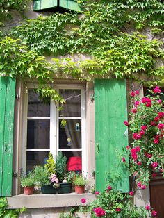 in Alsace France Beautiful World, Beautiful Places, Cottage Windows, Window View, Provence France, Through The Window, French Country Style, Alsace, Architecture