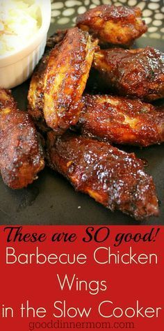 Slow Cooker BBQ Chicken Wings