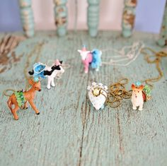Anthro Inspired Party Animal Necklaces #diy #birthday